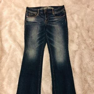 American Eagle Dark Wash Stretch Kick-boot Jeans